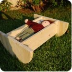 homemade doll cradle