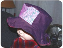 purple baby sun hat