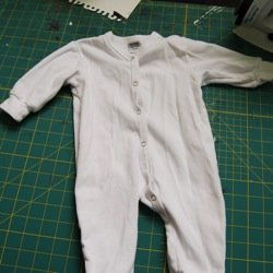 Using Fabric Spray Paint On Baby Clothes