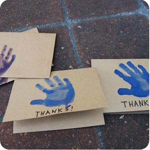 handprint craft cards