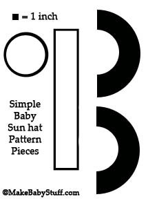 free baby sun hat pattern