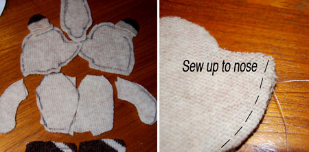 Free teddy bear pattern for sewing for Make your own teddy bear template