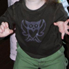 freezer stencil owl shirt