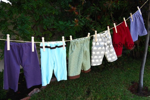 homemade baby pants