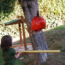homemade pinata swing