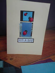 its a boy baby card
