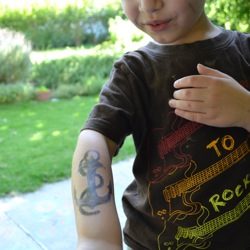 kids temporary tattoo