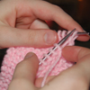 knitting baby hat