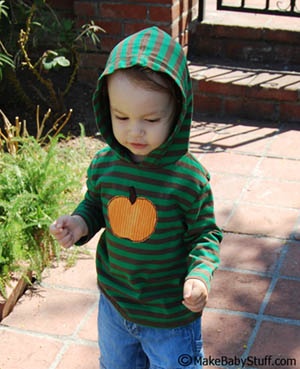 pumpkin applique shirt