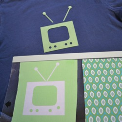 retro tv shape