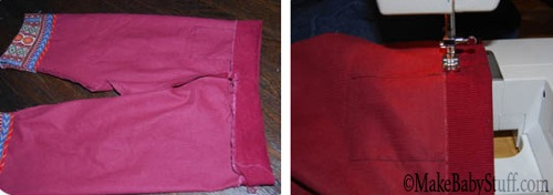 sew baby pants waist