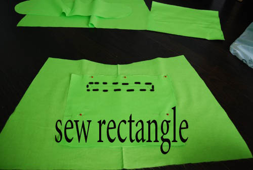 sew zipper rectangle