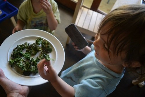 healthy kale chips