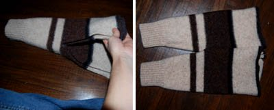 recycled wool sweater pants