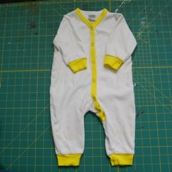 spray painted baby clothes