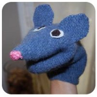 homemade toy puppet mouse