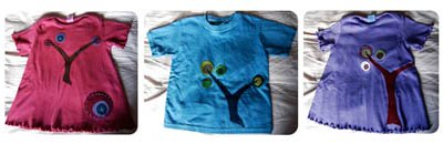 hand dyed baby shirts