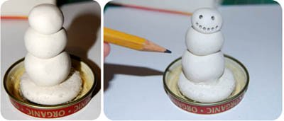 snowman globe baby food jar craft