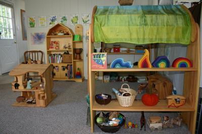an angle of our playroom
