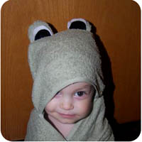frog towel hooded