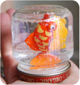 Baby Food Jar Crafts Snow Globes