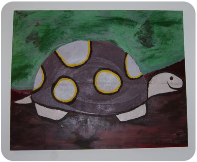 decor painting turtle