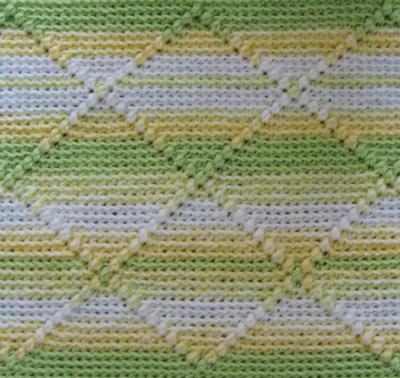 Diamond Pattern Baby Afghan