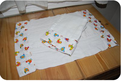 diaper burp cloth chickens