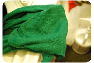 dyed green leo wrap