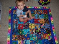 Joe on his quilt