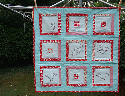 flock together baby quilt