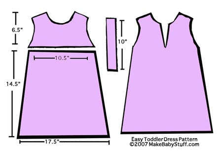 Free Baby Clothes Patterns - Toddler Dress Pattern