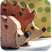 handmade hedgehog toy