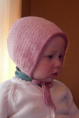 Knitting Needles Case Pattern : Knit Baby Bonnet