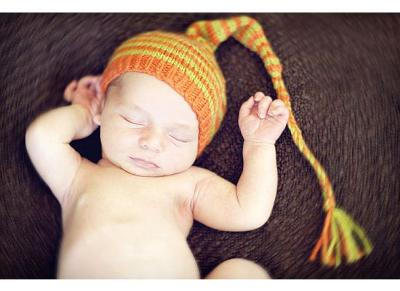 Hand Knit Baby Hat Contest Winner  Newborn Long Tail Hat sundara yarn 42c02e002b69