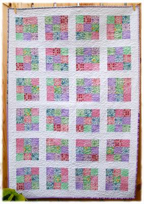 Nine Patch Reproduction Fabric Baby Quilt