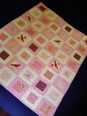 Pink Squares in Squares Baby Quilt : how to make baby quilt - Adamdwight.com