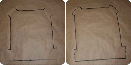 slipcover pattern traced