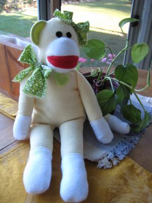 Fleece Sock Inspired Monkey