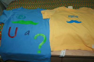 Mustache shirts for the kiddos!