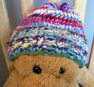 tangled up scrap yarn baby hat b32d5b5b078