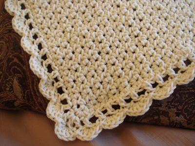 Upclose shot of double crochet border