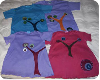 tree applique shirt