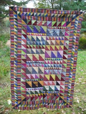 Kaffe Fasset Triangles Crib Quilt