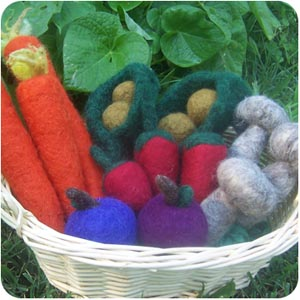 wool veggies playfood