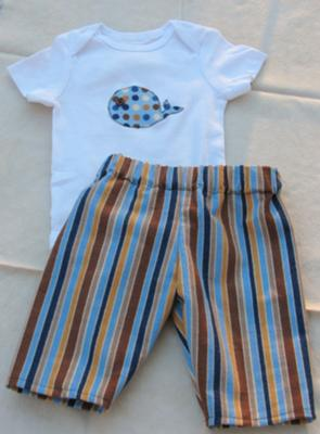 Baby Gift Set: Pants and Applique Onesie