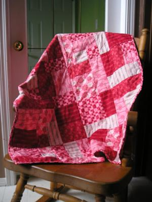 berry pink quilt