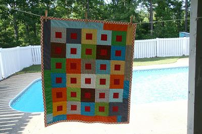 Bold and Colorful Baby Quilt