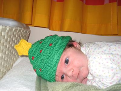 Christmas Tree Hat on Baby