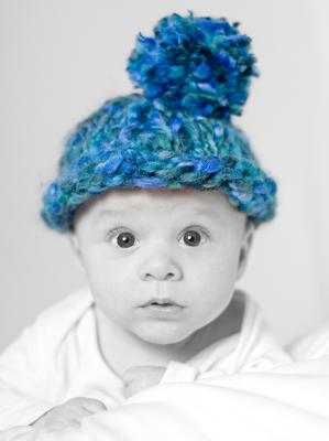 CHUNKY BLUE HAT